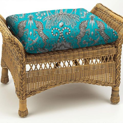 Kruger Teal Box Cushion