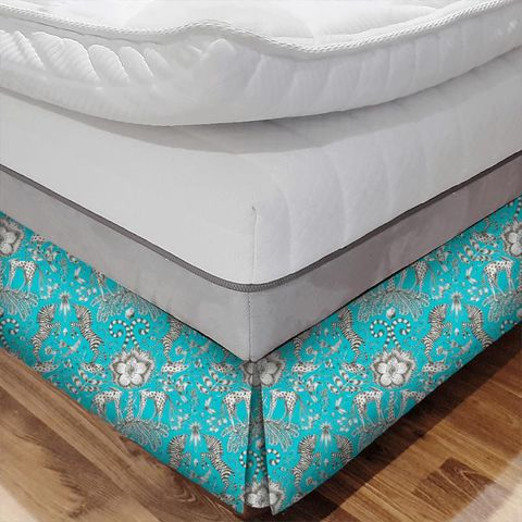 Kruger Teal Bed Base Valance