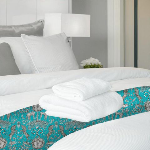 Kruger Teal Bed Runner