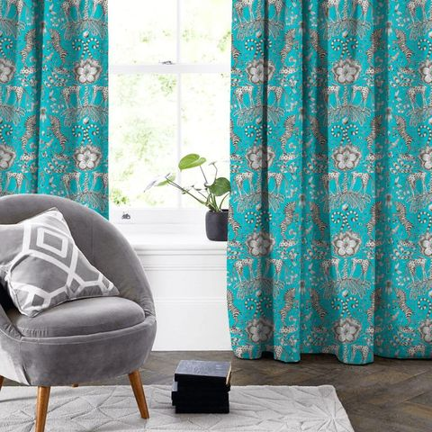 Kruger Teal Made To Measure Curtain