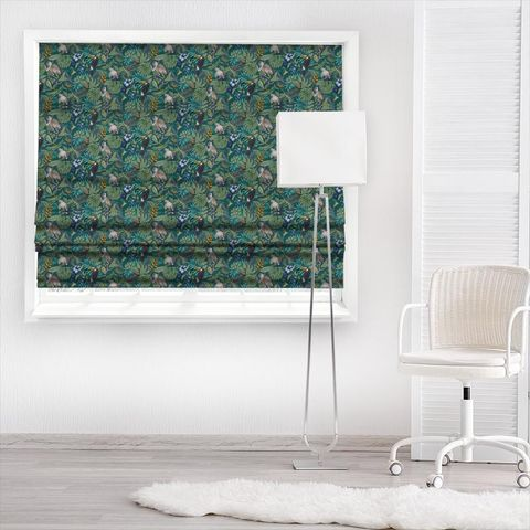 Rain Forest Lagoon Made To Measure Roman Blind