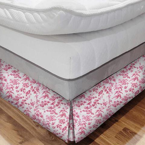 Amelia Raspberry Bed Base Valance