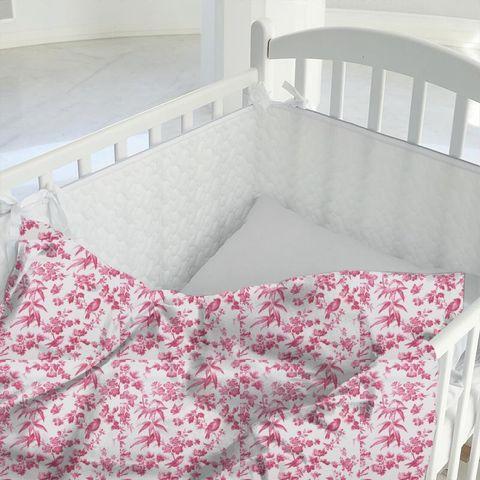 Amelia Raspberry Cot Duvet Cover
