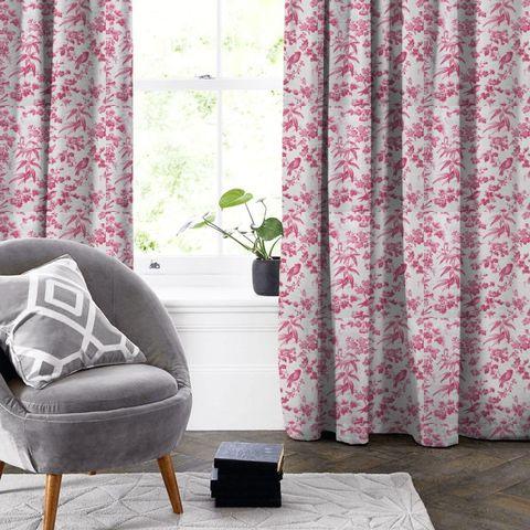 Amelia Raspberry Made To Measure Curtain
